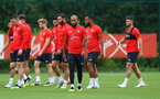 SOUTHAMPTON, ENGLAND - AUGUST 27: Nathan Redmond during a Southampton FC training session at the Staplewood Campus on August 27, 2018 in Southampton, England. (Photo by Matt Watson/Southampton FC via Getty Images)