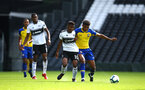 LONDON, ENGLAND - SEPTEMBER 01: Marcus Barnes (right) during the U23s PL2 match between Fulham FC and Southampton FC on September 01, 2018 in London, England. (Photo by James Bridle - Southampton FC/Southampton FC via Getty Images)