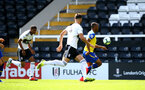 LONDON, ENGLAND - SEPTEMBER 01: Tyreke Johnson (right) during the U23s PL2 match between Fulham FC and Southampton FC on September 01, 2018 in London, England. (Photo by James Bridle - Southampton FC/Southampton FC via Getty Images)