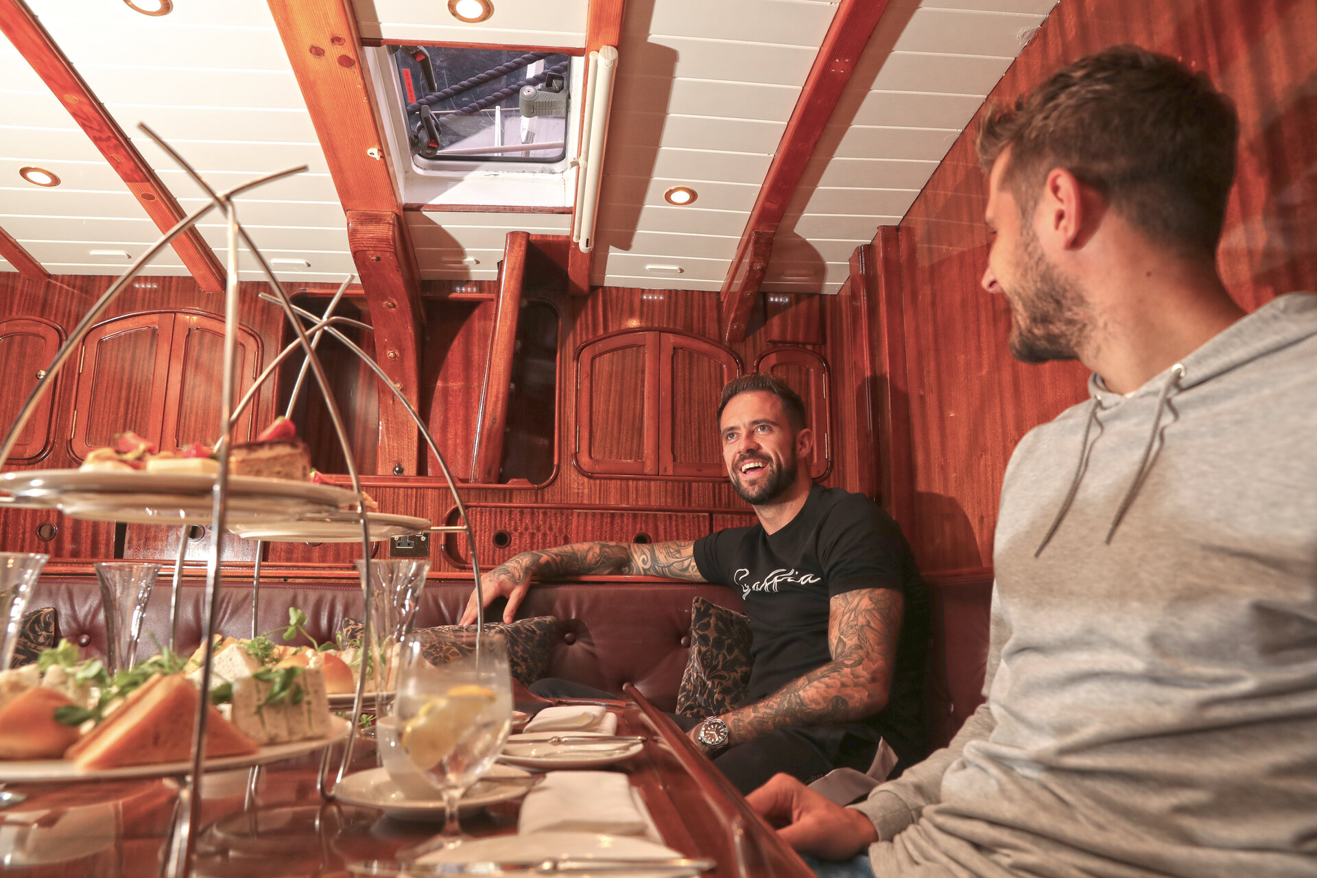 SOUTHAMPTON, ENGLAND - AUGUST 30: Danny Ings(L) and Jack Stephens during a photoshoot for Southampton FC, on August 30, 2018 in Southampton, England. (Photo by Matt Watson/Southampton FC via Getty Images)