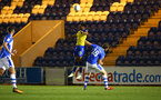 COLCHESTER, ENGLAND - SEPTEMBER 04: Marcus Barnes (middle) during the Check a Trade Cup match between Colchester United vs Southampton FC at Jobserve Community Stadium on September 04, 2018 in Colchester, England. (Photo by James Bridle - Southampton FC/Southampton FC via Getty Images)