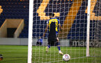 COLCHESTER, ENGLAND - SEPTEMBER 04: Marcus Barnes scores during the Check a Trade Cup match between Colchester United vs Southampton FC at Jobserve Community Stadium on September 04, 2018 in Colchester, England. (Photo by James Bridle - Southampton FC/Southampton FC via Getty Images)