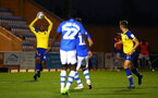 COLCHESTER, ENGLAND - SEPTEMBER 04: Yan Valery (left) during the Check a Trade Cup match between Colchester United vs Southampton FC at Jobserve Community Stadium on September 04, 2018 in Colchester, England. (Photo by James Bridle - Southampton FC/Southampton FC via Getty Images)