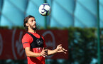 Manolo Gabbiadini during a Southampton FC training session, at the Staplewood Campus, Southampton, 6th September 2018