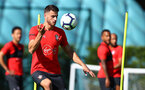 Wesley Hoedt during a Southampton FC training session, at the Staplewood Campus, Southampton, 6th September 2018