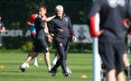 Mark Hughes during a Southampton FC training session, at the Staplewood Campus, Southampton, 6th September 2018