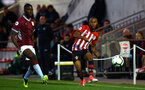 SOUTHAMPTON, ENGLAND - SEPTEMBER 21: Tyreke Johnson (Right) during the PL2 match between Southampton FC and Aston Villa FC at Staplewood Training Ground on September 21, 2018 in Southampton, United Kingdom. (Photo by James Bridle - Southampton FC/Southampton FC via Getty Images)