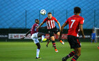SOUTHAMPTON, ENGLAND - SEPTEMBER 21: Ben Rowthorn (middle) during the PL2 match between Southampton FC and Aston Villa FC at Staplewood Training Ground on September 21, 2018 in Southampton, United Kingdom. (Photo by James Bridle - Southampton FC/Southampton FC via Getty Images)
