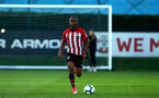 SOUTHAMPTON, ENGLAND - SEPTEMBER 21: Tyreke Johnson during the PL2 match between Southampton FC and Aston Villa FC at Staplewood Training Ground on September 21, 2018 in Southampton, United Kingdom. (Photo by James Bridle - Southampton FC/Southampton FC via Getty Images)