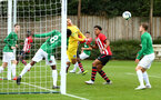 SOUTHAMPTON, ENGLAND - SEPTEMBER 22: Christian Norton (middle) looks on as BrightonÕs Ayo Tanimowo clears the ball from the line during the U18 Premier League match between Southampton FC and Brighton Hove Albion at Staplewood Training Ground on September 22, 2018 in Southampton, United Kingdom. (Photo by James Bridle - Southampton FC/Southampton FC via Getty Images) SOUTHAMPTON, ENGLAND - SEPTEMBER 22: Christian Norton (middle) looks on as Brighton's Ayo Tanimowo clears the ball from the line during the U18 Premier League match between Southampton FC and Brighton Hove Albion at Staplewood Training Ground on September 22, 2018 in Southampton, United Kingdom. (Photo by James Bridle - Southampton FC/Southampton FC via Getty Images)
