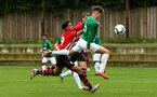 SOUTHAMPTON, ENGLAND - SEPTEMBER 22: Dan Bartlett (middle) scores during the U18 Premier League match between Southampton FC and Brighton Hove Albion at Staplewood Training Ground on September 22, 2018 in Southampton, United Kingdom. (Photo by James Bridle - Southampton FC/Southampton FC via Getty Images)