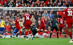 LIVERPOOL, ENGLAND - SEPTEMBER 22: Liverpool score their fourth goal during the Premier League match between Liverpool FC and Southampton FC at Anfield on September 22, 2018 in Liverpool, United Kingdom. (Photo by Matt Watson/Southampton FC via Getty Images)