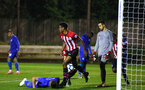 SOUTHAMPTON, ENGLAND - SEPTEMBER 26: Marcus Barnes (middle) celebrates after scoring during the International Cup where Southampton FC play FC Porto pictured at Southampton training session at Staplewood Complex on September 26, 2018 in Southampton, England. (Photo by James Bridle - Southampton FC/Southampton FC via Getty Images)