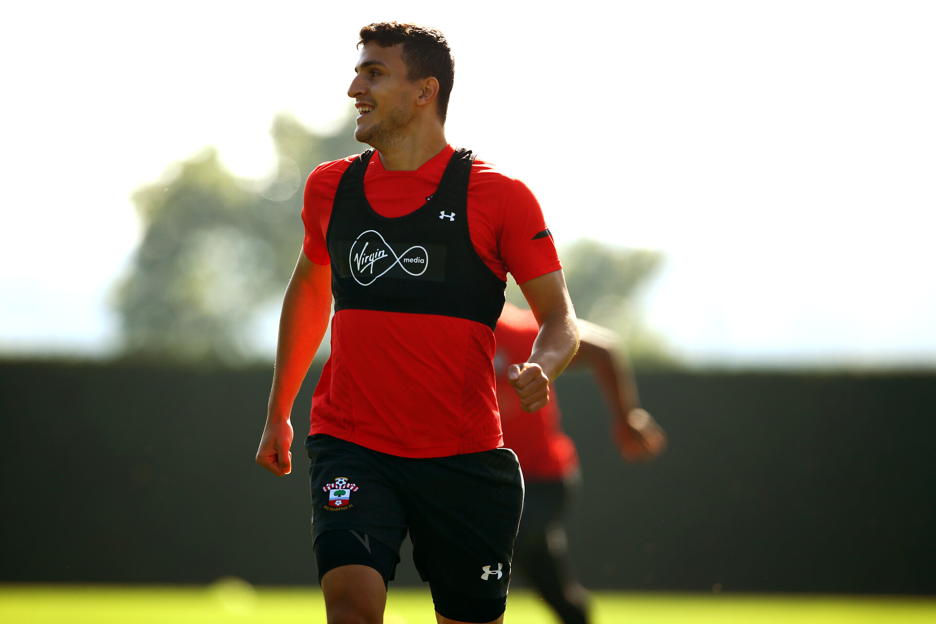 SOUTHAMPTON, ENGLAND - SEPTEMBER 27: Mohamed Elyounoussi during a Southampton FC training session at Staplewood Complex on September 27, 2018 in Southampton, England. (Photo by James Bridle - Southampton FC/Southampton FC via Getty Images)