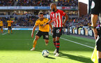 WOLVERHAMPTON, ENGLAND - SEPTEMBER 29: Nathan Redmond of Southampton on the ball during the Premier League match between Wolverhampton Wanderers and Southampton FC at Molineux on September 29, 2018 in Wolverhampton, United Kingdom. (Photo by Matt Watson/Southampton FC via Getty Images)