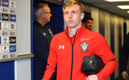 LIVERPOOL, ENGLAND - OCTOBER 02: Matt Targett of Southampton ahead of the Carabao Cup Third Round match between Everton and Southampton at Goodison Park on October 2nd, 2018 in Liverpool, England. (Photo by Matt Watson/Southampton FC via Getty Images)