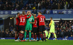LIVERPOOL, ENGLAND - OCTOBER 02: Southampton players celebrate during the Carabao Cup Third Round match between Everton and Southampton at Goodison Park on October 2nd, 2018 in Liverpool, England. (Photo by Matt Watson/Southampton FC via Getty Images)