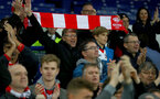 LIVERPOOL, ENGLAND - OCTOBER 02: fans of Southampton during the Carabao Cup Third Round match between Everton and Southampton at Goodison Park on October 2nd, 2018 in Liverpool, England. (Photo by Matt Watson/Southampton FC via Getty Images)