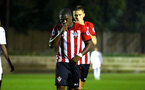 SOUTHAMPTON, ENGLAND - OCTOBER 05: Michael Obafemi celebrates after scoring during the PL2 match between Southampton FC and Leeds United FC U23s pictured at Staplewood Complex on October 5, 2018 in Southampton, England. (Photo by James Bridle - Southampton FC/Southampton FC via Getty Images)