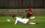 SOUTHAMPTON, ENGLAND - OCTOBER 05: Micheal Obafemi scores for Southampton FC during the PL2 match between Southampton FC and Leeds United FC U23s pictured at Staplewood Complex on October 5, 2018 in Southampton, England. (Photo by James Bridle - Southampton FC/Southampton FC via Getty Images)