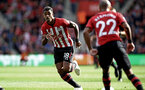 SOUTHAMPTON, ENGLAND - OCTOBER 07: Mario Lemina (left) of Southampton FC during the Premier League match between Southampton FC and Chelsea FC at St Mary's Stadium on October 7, 2018 in Southampton, United Kingdom. (Photo by James Bridle - Southampton FC/Southampton FC via Getty Images)