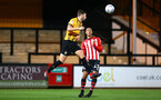 CAMBRIDGE, ENGLAND - OCTOBER 09: Yan Valery (right) during the U21s Checkatade Trophy between Cambridge United and Southampton FC pictured at Abbey Stadium on October 9, 2018 in Cambridge, England. (Photo by James Bridle - Southampton FC/Southampton FC via Getty Images)
