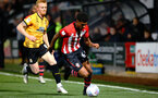 CAMBRIDGE, ENGLAND - OCTOBER 09: Marcus Barnes (right) during the U21s Checkatade Trophy between Cambridge United and Southampton FC pictured at Abbey Stadium on October 9, 2018 in Cambridge, England. (Photo by James Bridle - Southampton FC/Southampton FC via Getty Images)