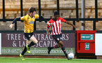 CAMBRIDGE, ENGLAND - OCTOBER 09: Nathan Tella (right)( during the U21s Checkatade Trophy between Cambridge United and Southampton FC pictured at Abbey Stadium on October 9, 2018 in Cambridge, England. (Photo by James Bridle - Southampton FC/Southampton FC via Getty Images)