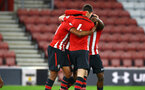 SOUTHAMPTON, ENGLAND - OCTOBER 19: Southampton FC  players celebrate during the PL2 match between Southampton FC and Wolves pictured at St Mary's Stadium on October 19, 2018 in Southampton, England. (Photo by James Bridle - Southampton FC/Southampton FC via Getty Images)