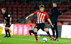 SOUTHAMPTON, ENGLAND - OCTOBER 19: Jake Vokins (middle) during the PL2 match between Southampton FC and Wolves pictured at St Mary's Stadium on October 19, 2018 in Southampton, England. (Photo by James Bridle - Southampton FC/Southampton FC via Getty Images)