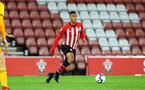 SOUTHAMPTON, ENGLAND - OCTOBER 19: Yan Valery (middle) during the PL2 match between Southampton FC and Wolves pictured at St Mary's Stadium on October 19, 2018 in Southampton, England. (Photo by James Bridle - Southampton FC/Southampton FC via Getty Images)