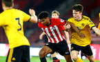 SOUTHAMPTON, ENGLAND - OCTOBER 19: Marcus Barnes (Middle) of Southampton FC  during the PL2 match between Southampton FC and Wolves pictured at St Mary's Stadium on October 19, 2018 in Southampton, England. (Photo by James Bridle - Southampton FC/Southampton FC via Getty Images)