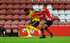 SOUTHAMPTON, ENGLAND - OCTOBER 19: Yan Valery (right) during the PL2 match between Southampton FC and Wolves pictured at St Mary's Stadium on October 19, 2018 in Southampton, England. (Photo by James Bridle - Southampton FC/Southampton FC via Getty Images)