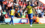 BOURNEMOUTH, ENGLAND - OCTOBER 20: Charlie Austin of Southampton during the Premier League match between AFC Bournemouth and Southampton FC at Vitality Stadium on October 20, 2018 in Bournemouth, United Kingdom. (Photo by Matt Watson/Southampton FC via Getty Images)