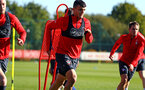 SOUTHAMPTON, ENGLAND - OCTOBER 22: Mohamed Elyounoussi (middle) during a Southampton FC training session at Staplewood Complex on October 22, 2018 in Southampton, England. (Photo by James Bridle - Southampton FC/Southampton FC via Getty Images)