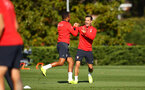 SOUTHAMPTON, ENGLAND - OCTOBER 22: Ryan Bertrand, Cedric during a Southampton FC training session at Staplewood Complex on October 22, 2018 in Southampton, England. (Photo by James Bridle - Southampton FC/Southampton FC via Getty Images)