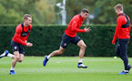 SOUTHAMPTON, ENGLAND - OCTOBER 25: Wesley Hoedt(centre) during a Southampton FC training session at the Staplewood Campus on October 25, 2018 in Southampton, United Kingdom. (Photo by Matt Watson/Southampton FC via Getty Images)