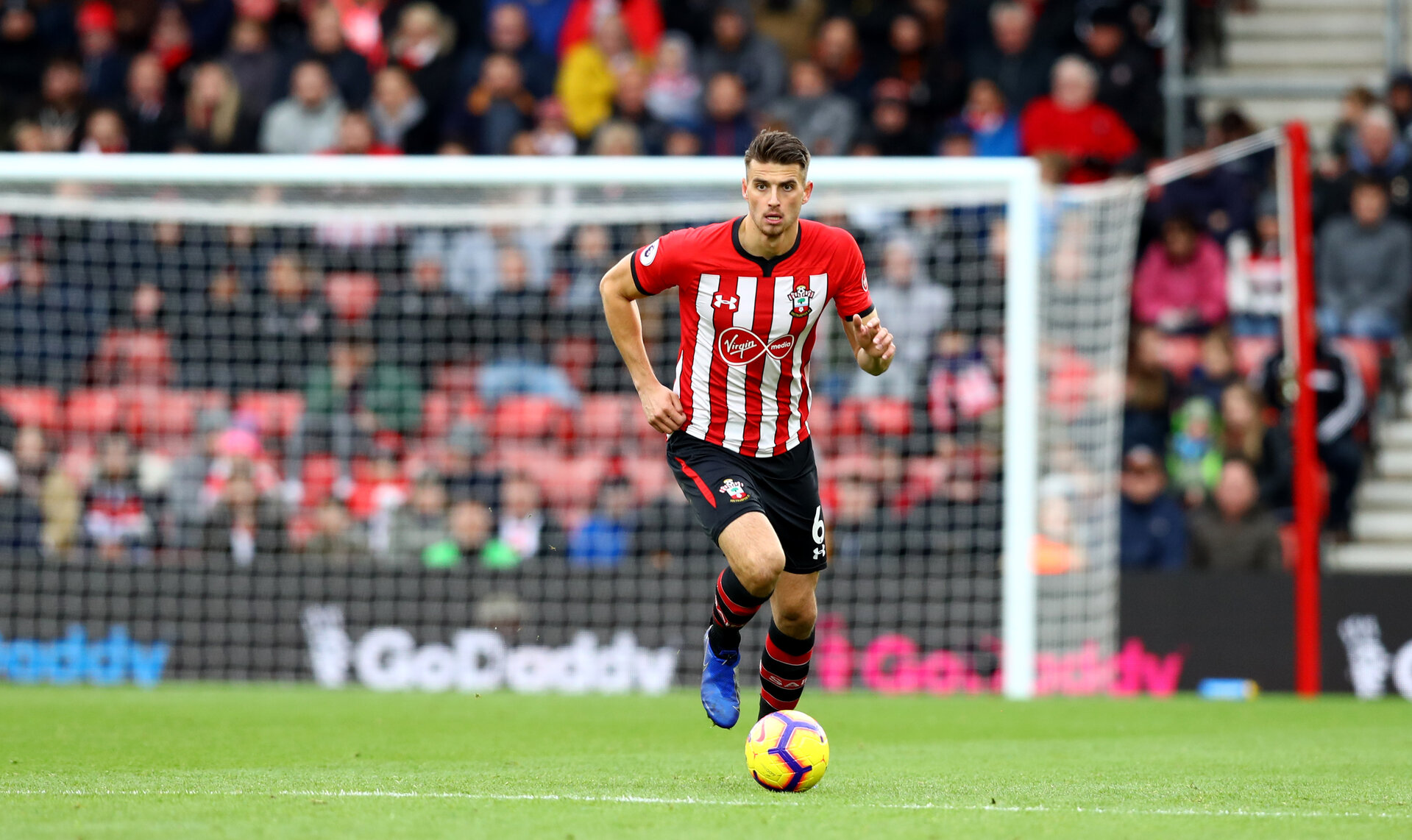 SOUTHAMPTON, ENGLAND - OCTOBER 27: Wesley Hoedt of Southampton during the Premier League match between Southampton FC and Newcastle United at St Mary's Stadium on October 27, 2018 in Southampton, United Kingdom. (Photo by Matt Watson/Southampton FC via Getty Images)