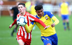 SUNDERLAND, ENGLAND - OCTOBER 28: Marcus Barnes (right) during the during the U23s Premier League 2 match between Sunderland and Southampton FC, 2018 in Sunderland, England. (Photo by James Bridle - Southampton FC/Southampton FC via Getty Images)