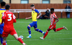 SUNDERLAND, ENGLAND - OCTOBER 28: Callum Slattery (middle) during the during the U23s Premier League 2 match between Sunderland and Southampton FC, 2018 in Sunderland, England. (Photo by James Bridle - Southampton FC/Southampton FC via Getty Images)