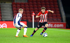 SOUTHAMPTON, ENGLAND - NOVEMBER 02: Jake Vokins (right) during the U23s Premier League 2 match between Southampton FC and Westbrom Albion FC, 2018 in Southampton, England. (Photo by James Bridle - Southampton FC/Southampton FC via Getty Images)