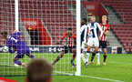 SOUTHAMPTON, ENGLAND - NOVEMBER 02: Marcus Barnes (middle) during the U23s Premier League 2 match between Southampton FC and Westbrom Albion FC, 2018 in Southampton, England. (Photo by James Bridle - Southampton FC/Southampton FC via Getty Images)