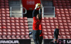 SOUTHAMPTON, ENGLAND - NOVEMBER 07: Harry Lewis (middle) during a Southampton FC training session at St Mary's Stadium on November 7, 2018 in Southampton, England. (Photo by James Bridle - Southampton FC/Southampton FC via Getty Images)