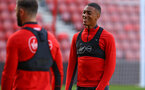 SOUTHAMPTON, ENGLAND - NOVEMBER 07: Yan Valery (right) during a Southampton FC training session at St Mary's Stadium on November 7, 2018 in Southampton, England. (Photo by James Bridle - Southampton FC/Southampton FC via Getty Images)