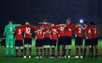 SOUTHAMPTON, ENGLAND - NOVEMBER 09: 1 minute silence commemorating Leicester City helicopter crash during the Premier League 2 match between Southampton FC and Newcastle United pictured at Staplewood Complex on November 09, 2018 in Southampton, England. (Photo by James Bridle - Southampton FC/Southampton FC via Getty Images)