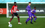 SOUTHAMPTON, ENGLAND - NOVEMBER 10: Alex Jankewitz (left) during the U18 Premier League match between Southampton FC and Stoke City FC pictured at Staplewood Complex on November 10, 2018 in Southampton, England. (Photo by James Bridle - Southampton FC/Southampton FC via Getty Images)
