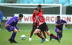 SOUTHAMPTON, ENGLAND - NOVEMBER 10: Kameron Ledwidge (middle) during the U18 Premier League match between Southampton FC and Stoke City FC pictured at Staplewood Complex on November 10, 2018 in Southampton, England. (Photo by James Bridle - Southampton FC/Southampton FC via Getty Images)