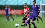 SOUTHAMPTON, ENGLAND - NOVEMBER 10: Sean Brennan (left) during the U18 Premier League match between Southampton FC and Stoke City FC pictured at Staplewood Complex on November 10, 2018 in Southampton, England. (Photo by James Bridle - Southampton FC/Southampton FC via Getty Images)