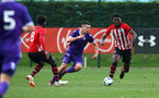 SOUTHAMPTON, ENGLAND - NOVEMBER 10: Allan TChaptchet (right) during the U18 Premier League match between Southampton FC and Stoke City FC pictured at Staplewood Complex on November 10, 2018 in Southampton, England. (Photo by James Bridle - Southampton FC/Southampton FC via Getty Images)