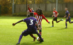 SOUTHAMPTON, ENGLAND - NOVEMBER 10: Taymar Fleary (right) during the U18 Premier League match between Southampton FC and Stoke City FC pictured at Staplewood Complex on November 10, 2018 in Southampton, England. (Photo by James Bridle - Southampton FC/Southampton FC via Getty Images)